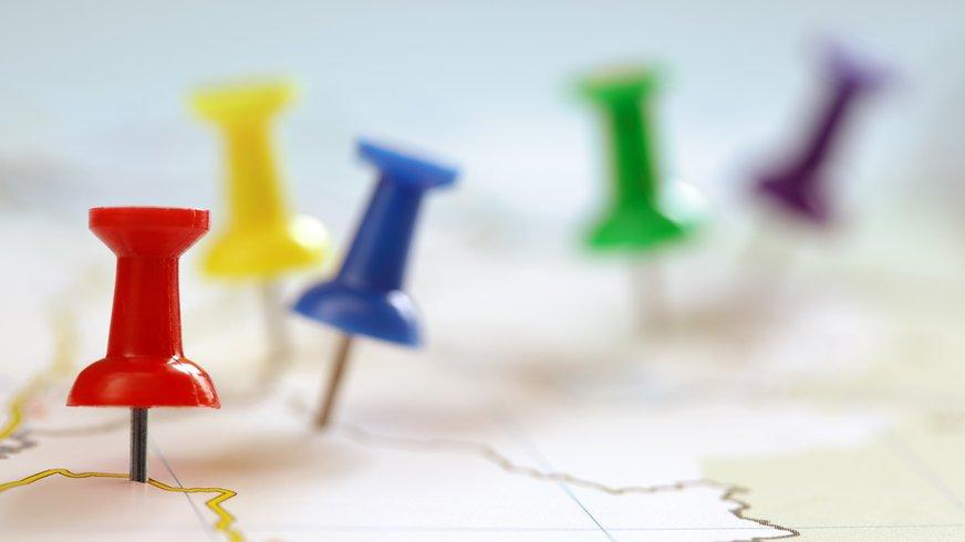 Karte Pin Reiseziel Stadtplan